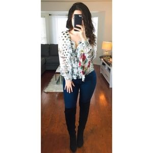 Anthropologie Leifnotes In Spades Heart Blouse